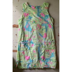 VTG Lilly Pulitzer Via Lilly Palm Beach map dress